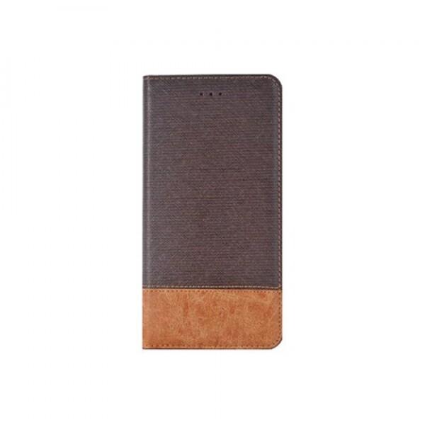 크로스패턴 카드지갑형 핸드폰 케이스 브라운 아이폰 7/8플러스