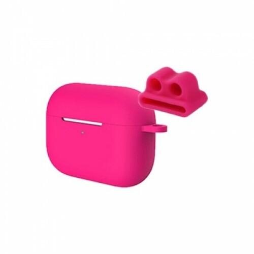 비쉐르 멀티 모드 에어팟 프로 3세대 실리콘 케이스 + 스트랩 홀더 (핫핑크)