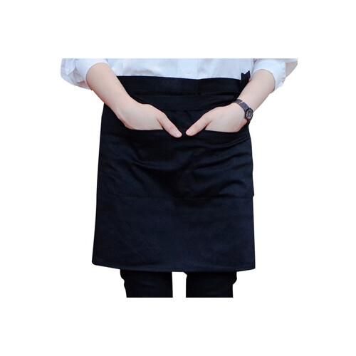 쉬라즈 카페 바리스타 허리 하프 앞치마 블랙 2개