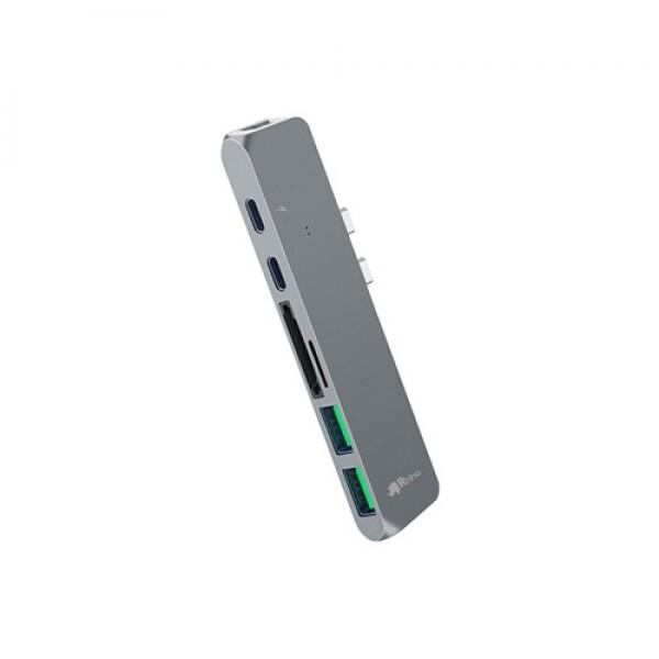 라이노 USB 타입C 올인원 허브 알루미늄 7in1 RUC-20 스페이스 그레이