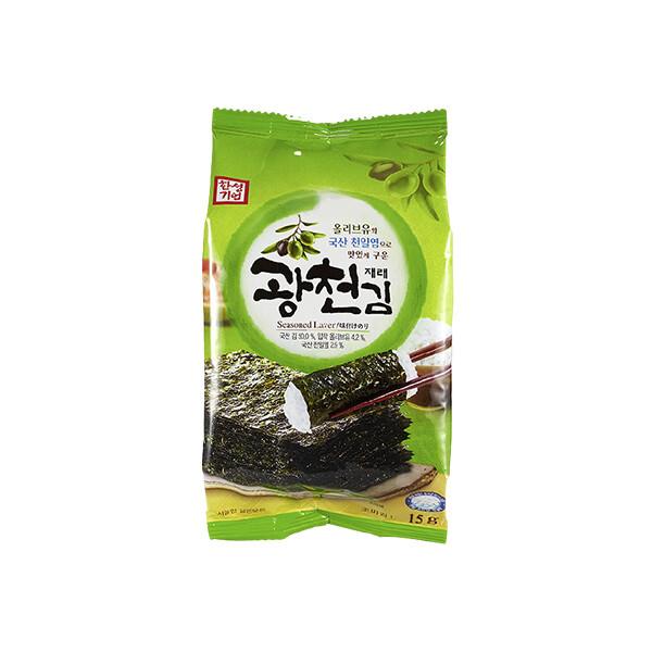 한성 광천김 식탁용 15g (상온보관/유통기한 제조일로부터 6개월)