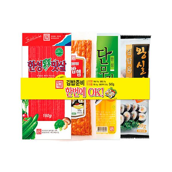 한성 김밥패키지 505g (냉장보관/유통기한 제조일로부터 30일)
