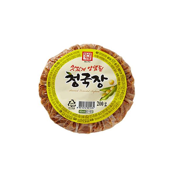 한성 맛있게 양념된 청국장 200g (냉장보관/유통기한 제조일로부터 6개월)