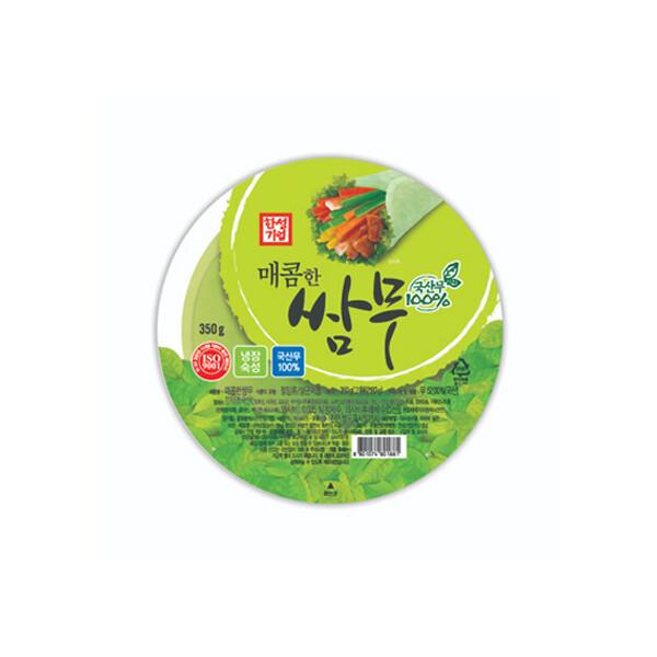 한성 매콤한 쌈무 350g (상온보관/유통기한 제조일로부터 6개월)