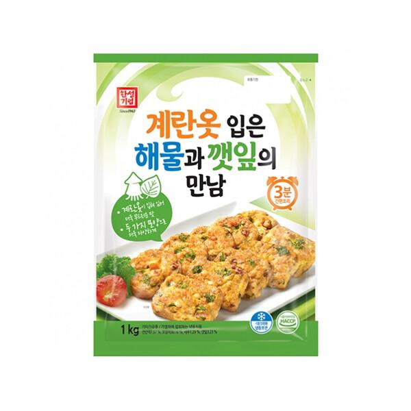 한성 계란옷입은해물깻잎만남 1kg (냉동보관/유통기한 제조일로부터 9개월)