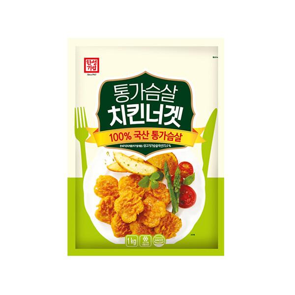 한성 통가슴살치킨너겟 1kg (냉동보관/유통기한 제조일로부터 9개월)