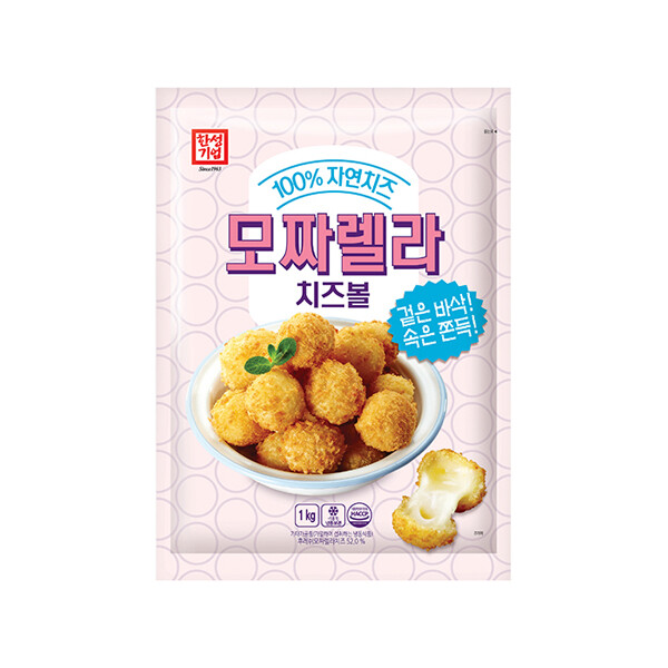 한성 모짜렐라 치즈볼 1kg (냉동보관/유통기한 제조일로부터 9개월)