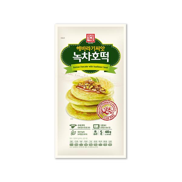 한성 해바라기씨앗 녹차호떡 400g (냉동보관/유통기한 제조일로부터 12개월)