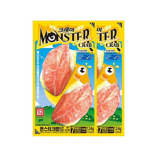 한성 몬스터크랩 치즈 124gX2팩 (냉장보관/유통기한 제조일로부터 30일)