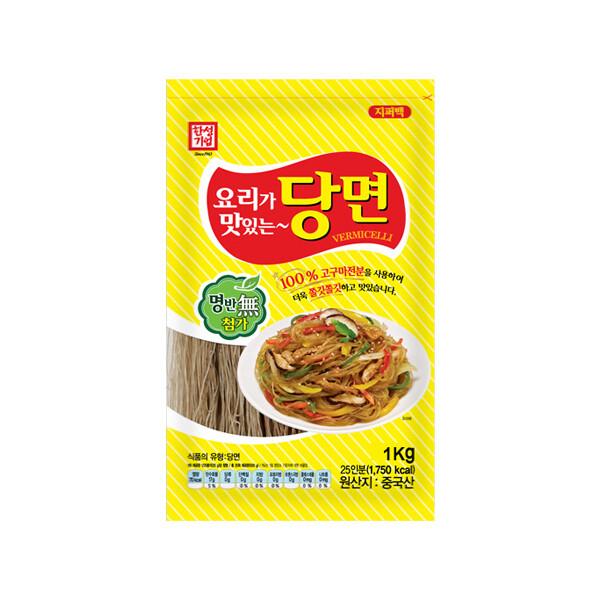 한성 요리가 맛있는 당면 1kg (상온보관/유통기한 제조일로부터 2년)