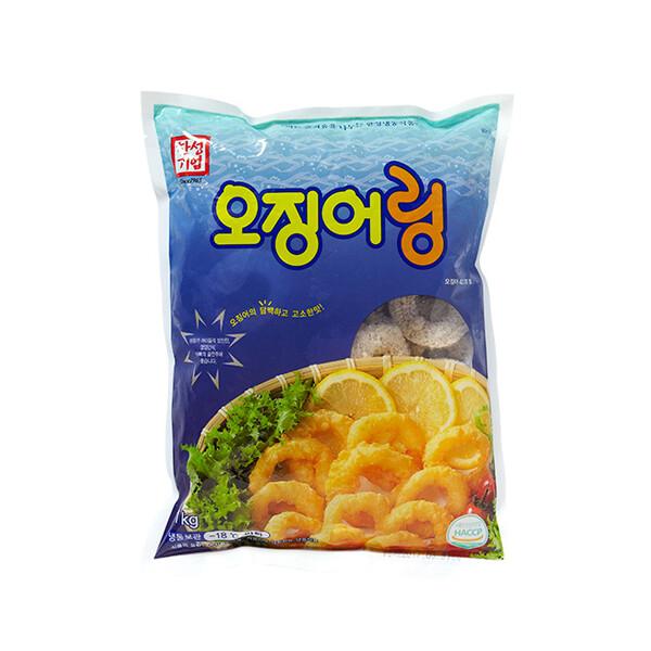 한성 오징어링 1kg (냉동보관/유통기한 제조일로부터 9개월)