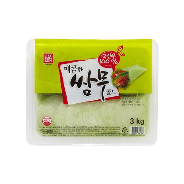 한성 매콤한 쌈무 골드 3kg (상온보관/유통기한 제조일로부터 6개월)