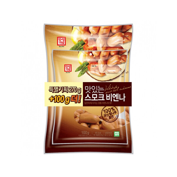 한성 맛있는스모크비엔나 270g+100g (냉장보관/유통기한 제조일로부터 30일)