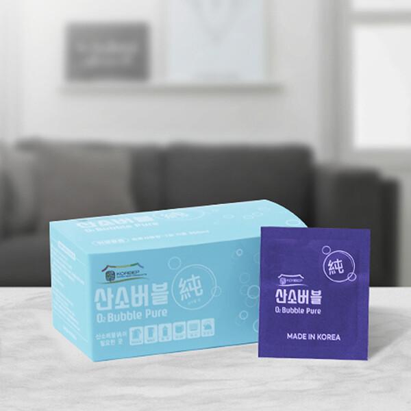 산소버블순 세척 살균 99.9 다목적 살소살균  발포클리너 2.3g x 20정 1box
