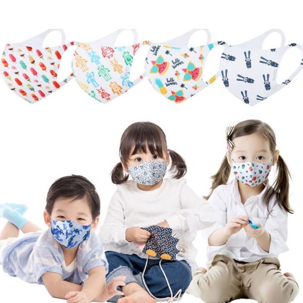[무료배송특가!] 100% 국내생산 KC인증 세탁이 가능한 마요 아동 메쉬 3D 항균마스크 (12종 디자인 택1)
