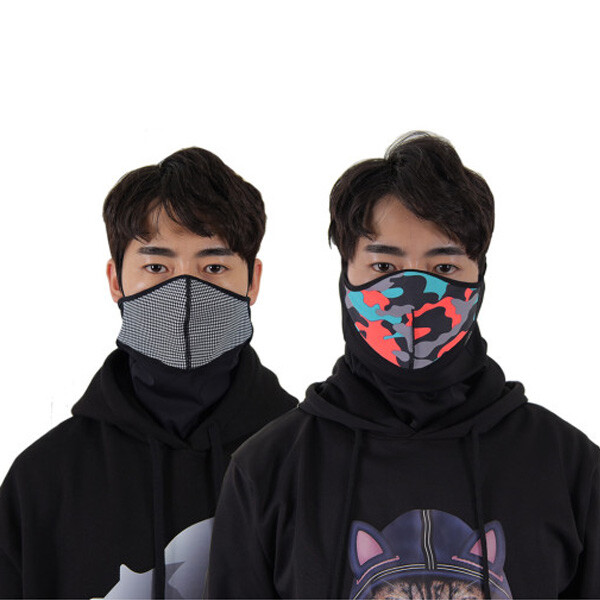 멀티 스포츠 패션 기모안감 넥워머 에어로실버 방한 마스크 (2020년10월제조)