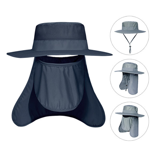 와이사니 근이통상 쿨링 다용도 3종세트 모자+마스크+가리개 (네이비, 그레이, 베이지, 카키)