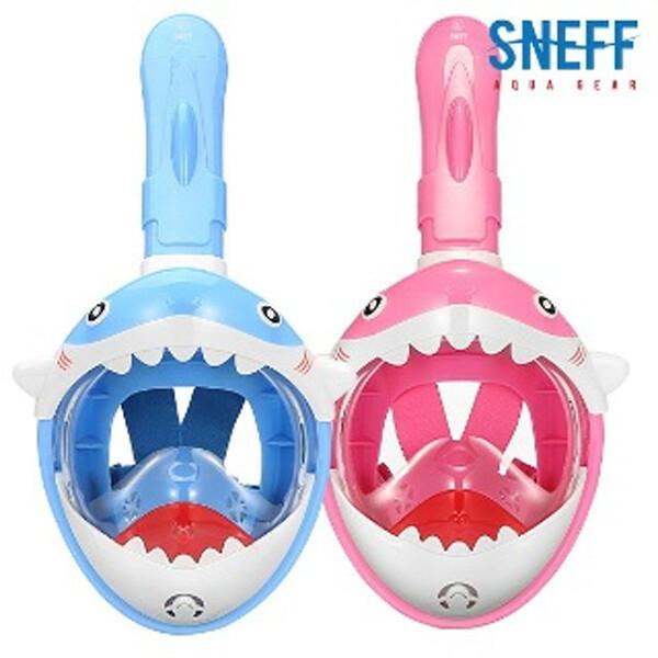 스네프 아동용 상어 스노쿨링마스크 SMT-2300 (블루, 핑크)