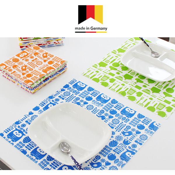 [얼리찬스!~03/9까지]  테이블매트 겸용 스칸디나비아 패턴 독일행주 총16장 (4가지색상 x 4장씩)