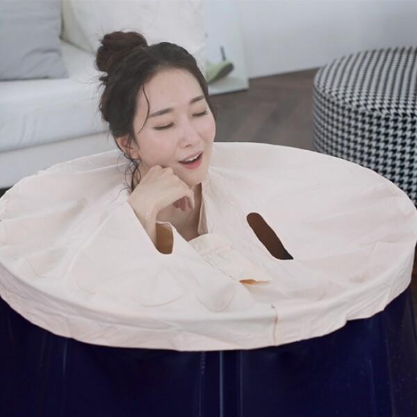 1인 사우나욕조 헤센 반신욕 안심사우나 (최신형 가정용,목욕샤워,환경호르몬이 없는 안심사우나)_리씽크팀