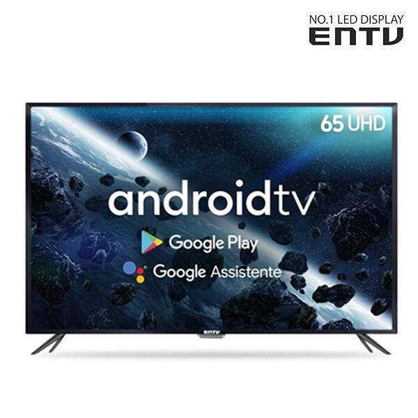 구글 AI 4K UHD 65인치 스마트 TV 이엔티비 EN-SM650U 안드로이드OS 전국무료배송!! (도서산간제외)