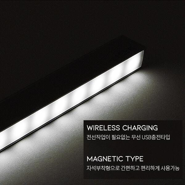 [깜짝세일~10/20까지]  하츠 무선 LED조명 KA-MLS30 충전식 동작감지 무선조명 USB충전가능 3개 (현관문/침실/주방/장식장/전선작업필요無)
