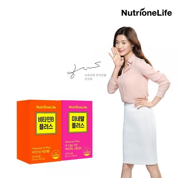 뉴트리원 전지현 비타민B플러스+미네랄플러스 영양제2종세트(고함량비타민B,고함량미네랄)