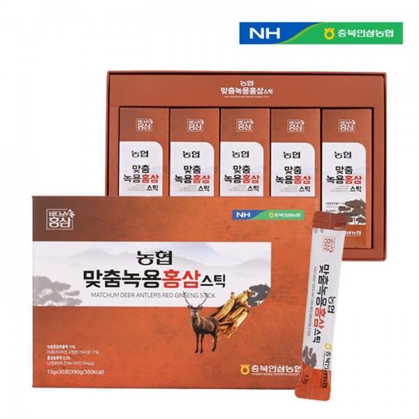 충북인삼농협 맞춤녹용홍삼 스틱 13g x 30포(쇼핑백 포함)