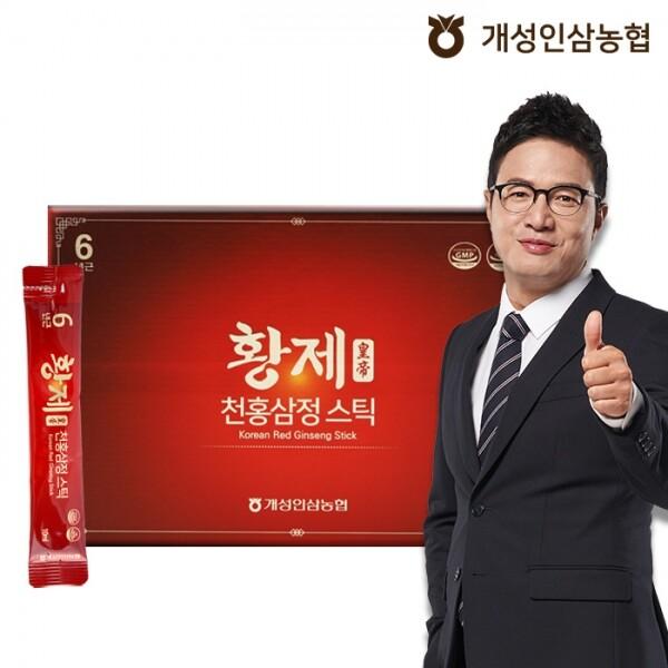 개성인삼농협 정한삼 황제천홍삼정스틱 10ml x 30포(쇼핑백 포함)