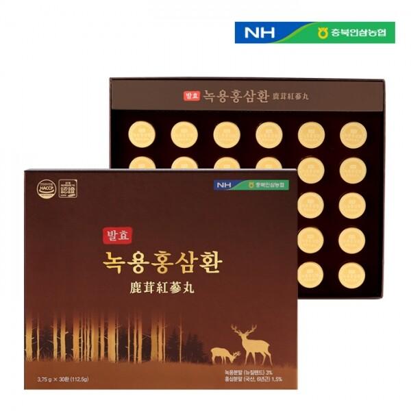 충북인삼농협 발효녹용홍삼환 3.75g x 30환(쇼핑백 포함)