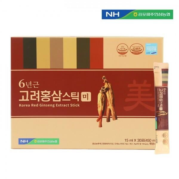 김포파주인삼농협 고려홍삼스틱 미 15ml x 30포(쇼핑백 포함)