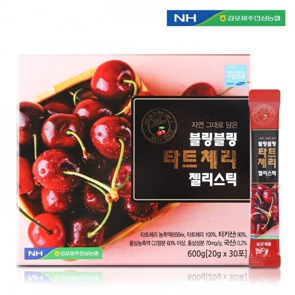 김포파주인삼농협 블링블링 타트체리 젤리스틱20g x 30포(쇼핑백 포함)