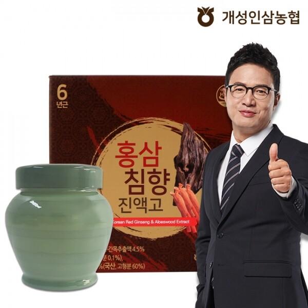 개성인삼농협 정한삼 홍삼침향진액고 1,000g x 1단지(쇼핑백 포함)