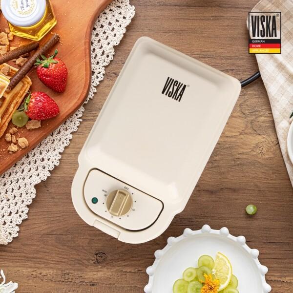 비스카 2 in1  와플 & 샌드위치 메이커 VK-M607SW (화이트,다크그린)
