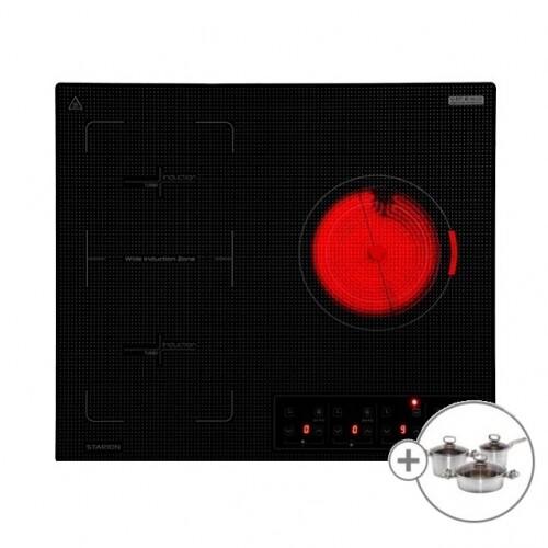 [스타리온] 3구 하이브리드 SE-JB668TSW 전기렌지 전기레인지 인덕션 하이라이트 + 사은품