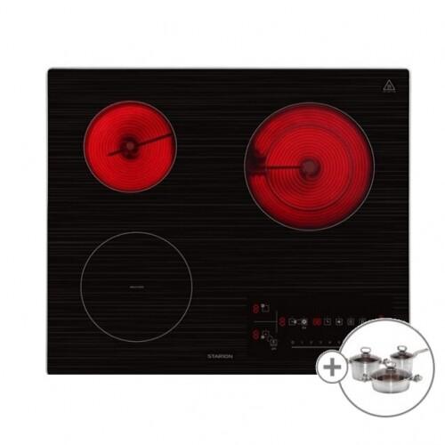 [스타리온] 3구 하이브리드 SE-GB659SLC 전기렌지 전기레인지 인덕션 하이라이트 + 사은품