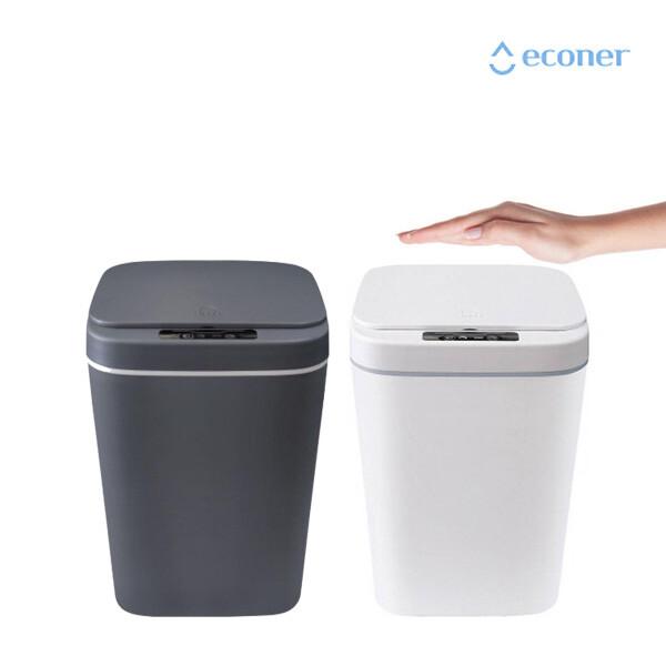 에코너 W1 자동 센서 쓰레기통 16L (그레이, 화이트)
