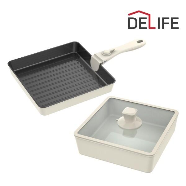 디라이프 부오노 올인원 사각냄비 세트 5PCS (인덕션 사용 가능)