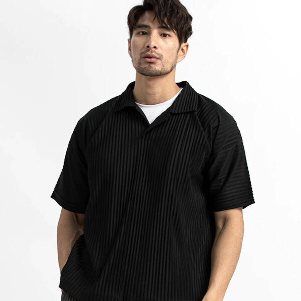 남성 의류 일본 짧은 소매 폴로 셔츠 (사이즈 2XL)