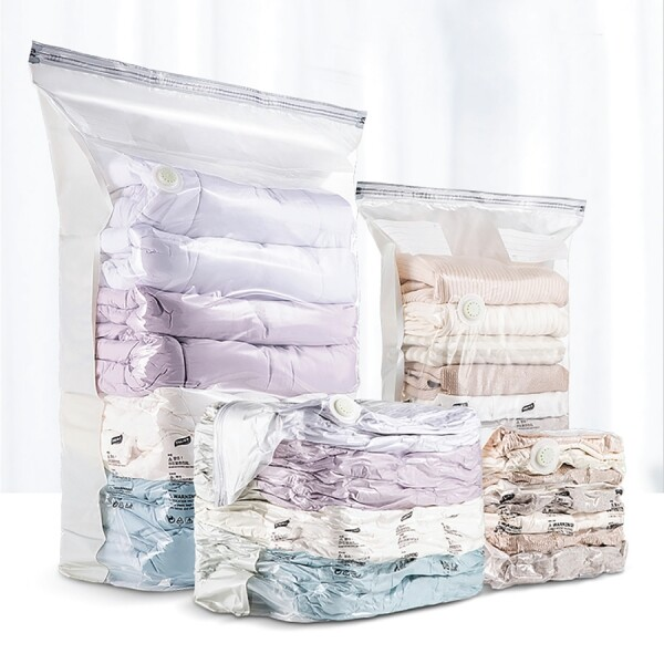 EOO 8초압축팩 2종 이불 옷 의류 수납 정리 진공 비닐팩