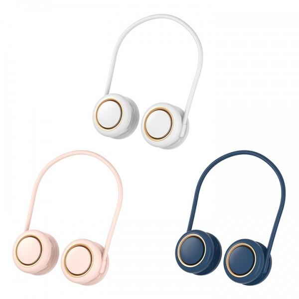 목에 걸치는 넥밴드 타입 360도 회전 휴대용 목걸이 선풍기