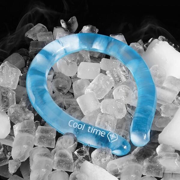 여름 필수템 독일산 냉매 사용 넥 쿨링 튜브 쿨타임 18도 얼음목걸이 (핑크, 블루, 밀리터리, 그린)