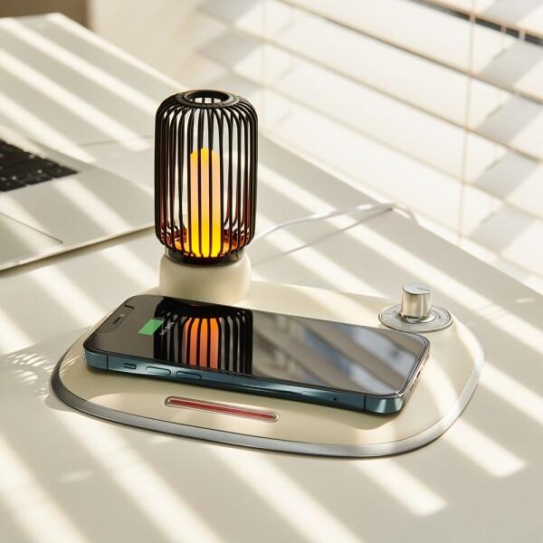 뮤란드 C3 무선충전기 고속 충전기 핸드폰 멀티 듀얼 LED 무드등 충전기 패드