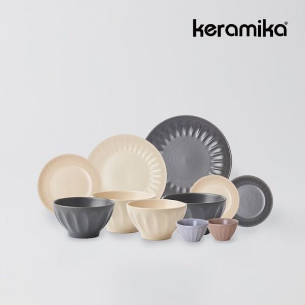 케라미카 바뎀 도자기 2인홈세트 11p (색상랜덤)_리씽크팀