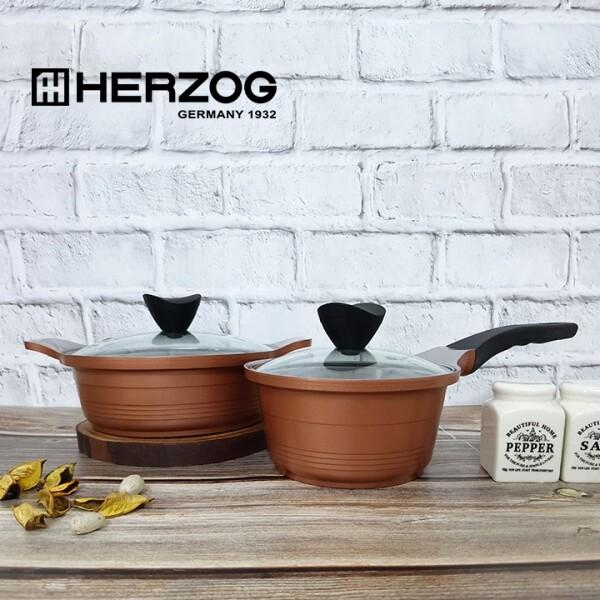 독일 헤르조그HERZOG 로제 세라믹냄비 2종세트