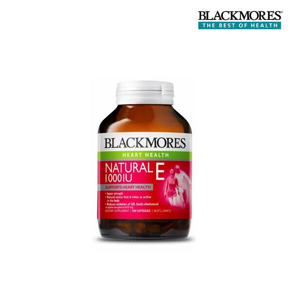 [얼리찬스!~01/19까지]  Blackmores 블랙모어스 내츄럴 E 1000IU 100정 (면세점재고)