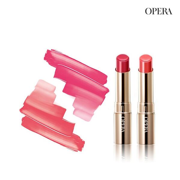 [1+1] OPERA 오페라 립틴트 4g #5 Coral Pink+#06 Pink Red(면세점재고 / 해외구매대행)