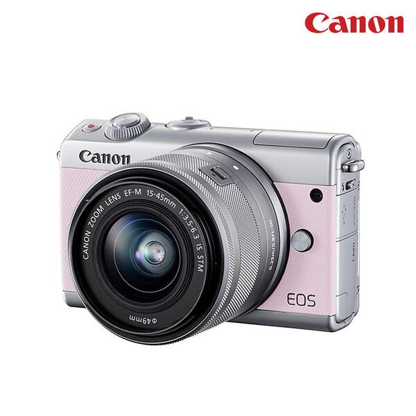 CANON 캐논 카메라 EOS M100 핑크+15-45mm 렌즈포함(면세점재고 / 해외구매대행/국내 1년 AS/보증서동봉)