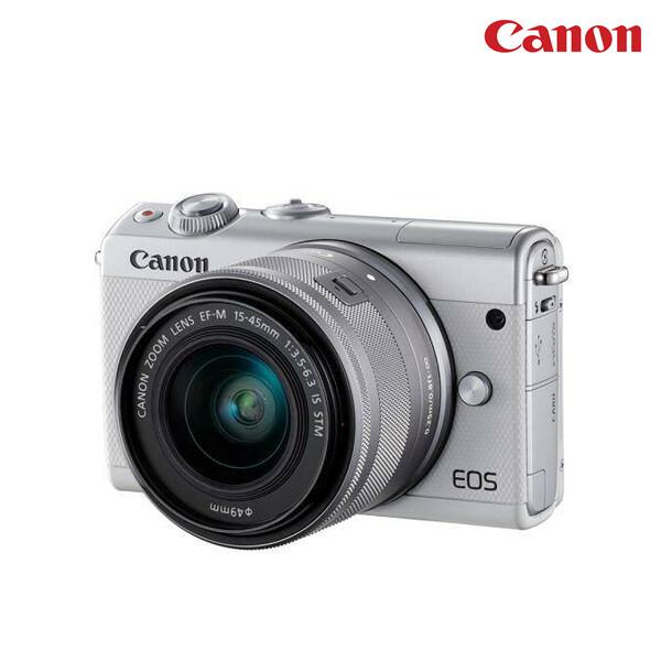 CANON 캐논 카메라 EOS M100 화이트+15-45mm 렌즈포함(면세점재고 / 해외구매대행)