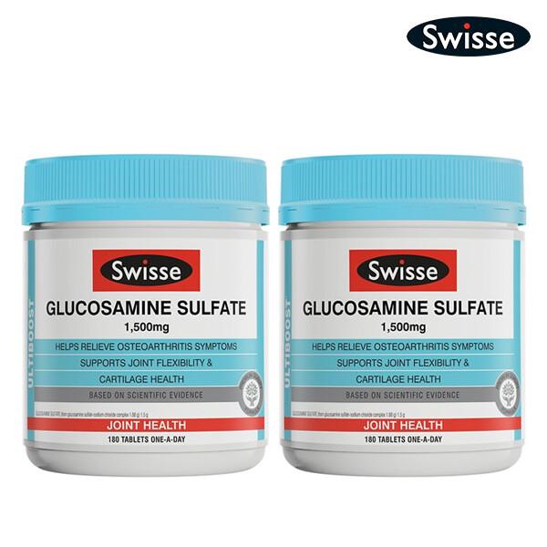 [1+1] SWISSE 스위스 글루코사민 설페이트 1,500mg+1,500mg(면세점재고 / 해외구매대행)